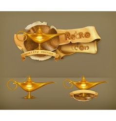 Oil lamp icon vector image vector image