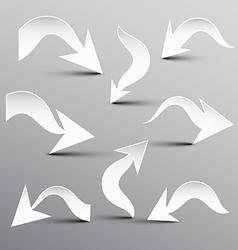 Paper Cut Arrow Arrows Set vector image