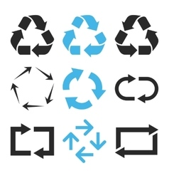 Recycle Arrows Flat Icon Set vector image