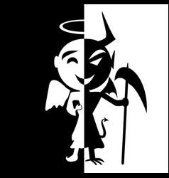 bipolar disordersmile of saint and satan angel vector image