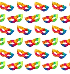 Bright carnival masks seamless pattern vector image