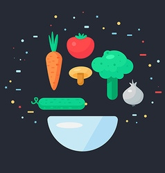 Fresh Vegetable Salad vector image