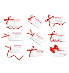 Gift tag cards vector image