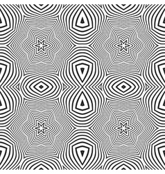 optical art abstract stars seamless deco pattern vector image vector image