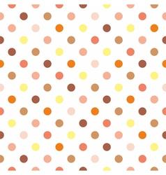 Tile polka dots on white background vector image