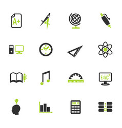 university icon set vector image