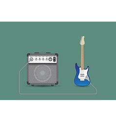 Guitar and combo vector image
