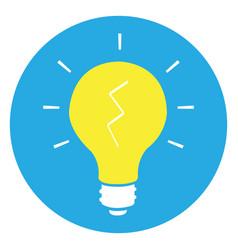 isolated yellow lightbulb vector image vector image