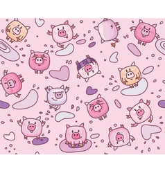 piglets seamless vector image vector image