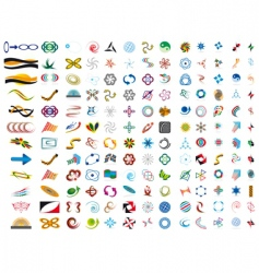 set of symbols vector image vector image