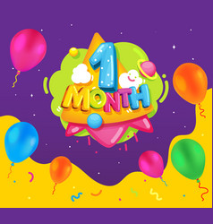 1 month vector image
