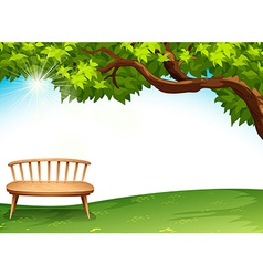 A chair near the tree vector