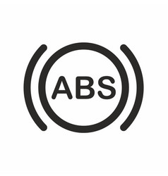 Abs car dashboard indicator icon vector