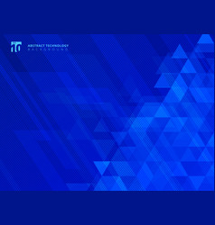 abstract lines and triangles pattern technology vector image