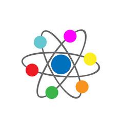 Atoms molecule icon vector