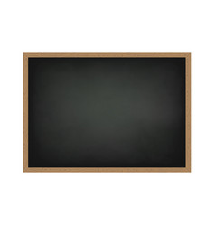blackboard with wooden frame dirty chalkboard vector image