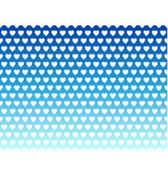 Blue rainbow heart shape pattern vector