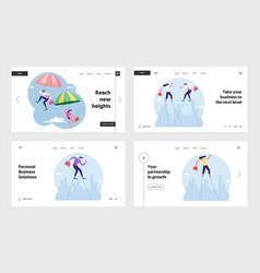 brave business idea challenge website landing vector image