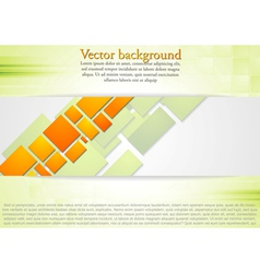 Bright squares design background vector image