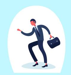 businessman going business meeting suitcase male vector image