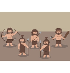 cavemen warrior flat graphic vector image