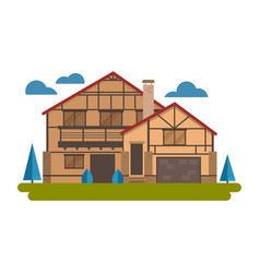 chalet house vector image