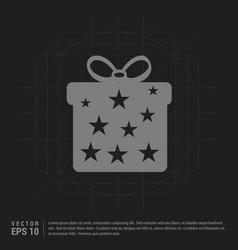 christmas gift box icon - black creative vector image