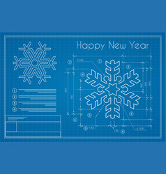 christmas winter project snowflake on new year vector image