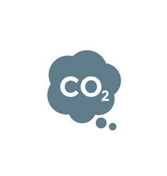 Co2 emission carbon dioxide icon on white vector