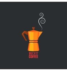 Coffee maker design vintage background vector