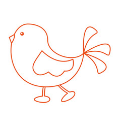 Cute little bird walking vector