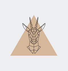Deer female geometric portrait vector