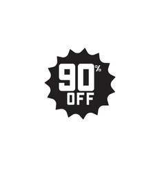 Discount 90 off label template design vector