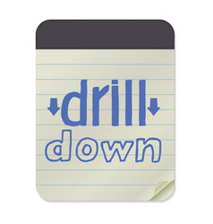 Drill down notebook template vector