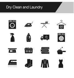 dry clean and laundry icons design vector image