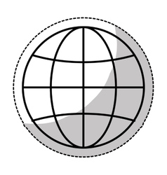 earth globe diagram icon image vector image