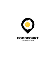 Egg pin location logo template vector