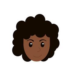 Face woman head cartoon vector