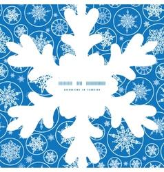 falling snowflakes Christmas snowflake silhouette vector image