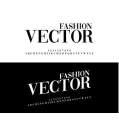 fashion elegant alphabet letters set exclusive vector image