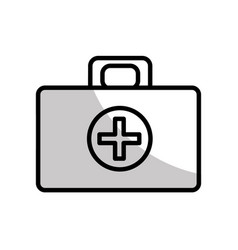 figure medical aid kit emergency care vector image