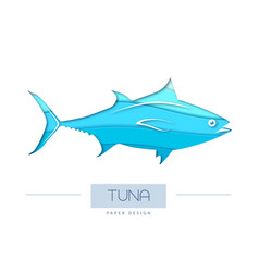 fish tuna silhouette vector image