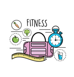 Fitness tools to healthy life vector