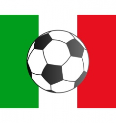 Flag of Italy and soccer ball vector
