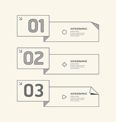 Flat linear Infographic Number Banner vector