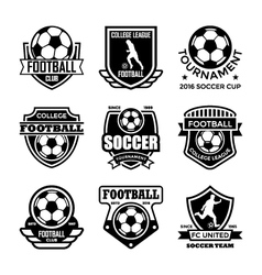 Football Badges vector image