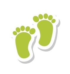 Footprint baisolated icon vector