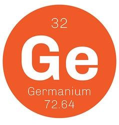 Germanium chemical element vector image
