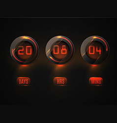 glass counter timer countdown website vector image