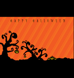 Halloween background with tree style vector